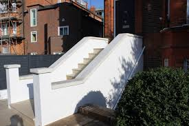 west hampstead front garden entrance steps fork design rendered