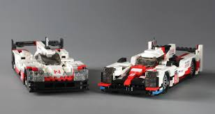 lego porsche 919 porsche 919 hybrid left and toyota ts050 right i u0027m bringing