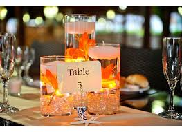 Floating Candle Centerpieces by Floating Candle Wedding Centerpiece Kit Orange Lilies Led Lights