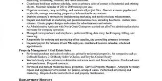 Property Manager Duties For Resume Assistant Property Manager Resume Objective Assistant Property