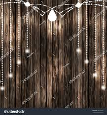 set glowing white string christmas lights stock vector 488718694