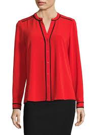 calvin klein blouses calvin klein calvin klein printed sleeve blouse dress