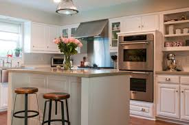 stainless steel backsplash kitchen transitional with industrial