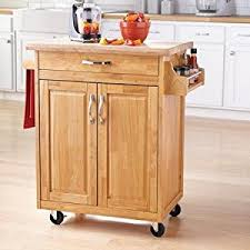 casters for kitchen island amazon com traditional durable casters kitchen island cart brown