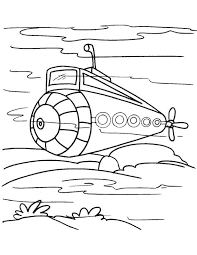 free watercraft submarine coloring happy submarine