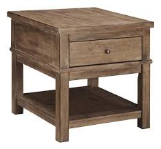 rustic pine end table signature design by ashley pinnadel rustic pine rectangular end