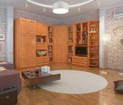 Modern Wall Units And Entertainment Centers Boston 9 Pc Corner Wall Unit With Wardrobe In Alder Ace Decore