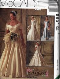 wedding dress pattern mccalls 6951 alicyn misses shoulder bridal wedding gown dress
