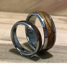 wood rings wedding titanium rings wood rings wedding rings charred oak whiskey