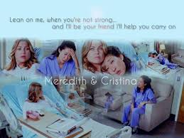 Meredith Grey Love Quotes by Grey Anatomy Alex And Meridith Cristina Meredith Cristina And