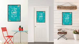 Home Decoration Gifts A Day At The Lake Restores The Soul Inspirational Saying