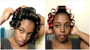 roller set relaxed hair wet roller set tutorial results relaxed hair youtube