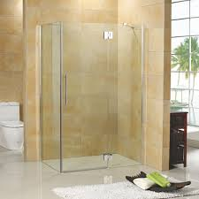 Corner Shower Glass Doors 46 X 34 Suzanne Corner Shower Enclosure With Tray Bathroom