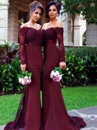 wedding dress maroon sleeve bridesmaid dress the shoulder bridesmaid dress