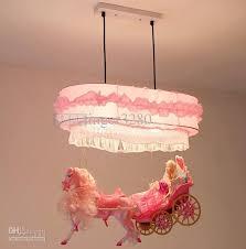 Wholesale Pendant Lighting Princess Carriage Lamps Bedroom Lamps Chandeliers Children Cartoon