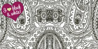 patterned perfection black u0026 white paisley wallpaper