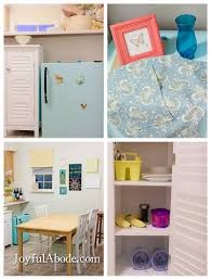 Kitchens For Toddlers by Montessori Toddler Kitchen And Mini Fridge Makeover Joyful Abode