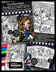 enchanted halloween coloring book hannah lynn