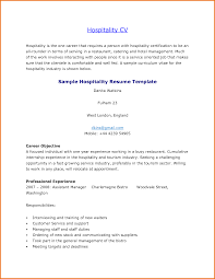 Resume For A Restaurant Job by Resume Skills For Hotel And Restaurant Management Resume For