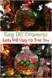 Easy Homemade Christmas Ornaments by Easy M U0026m U0027s Candy Christmas Ornaments