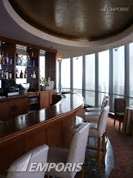 bar in the circular restaurant on the 70th floor lake point tower