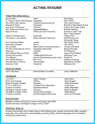 Movie Theater Resume Example by 42 Theater Resume Template 83 Actor Resume Template Teen