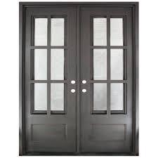 Clear Glass Entry Doors by 62 X 82 Double Door Front Doors Exterior Doors The Home Depot