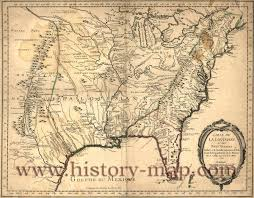 United States Timeline Map by North America In 1700 U0027s