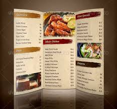 menu flyer template 30 restaurant brochure templates free psd eps ai indesign