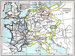 Map Central Europe by Central Europe Map 1180 A D Full Size