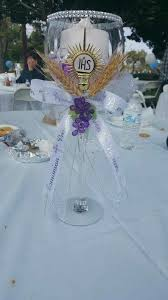 first holy communion table centerpieces 1st communion centerpiece made by me and my sister decorations