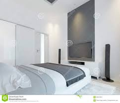 tv console with speakers in the modern bedroom stock illustration