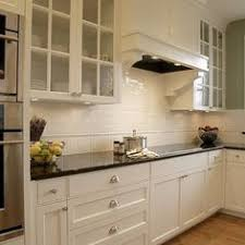 Beautiful Wire Brushed Oak Floors Offwhite Cabinets White - Subway tile backsplashes