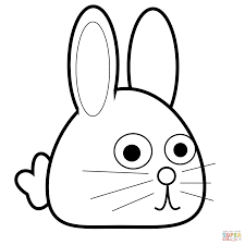 easter bunny face coloring page cartoon easter baby and rabbit