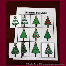 christmas hanukkah literacy and math activities autism classroom