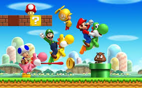 super mario bros wii artwork including playable