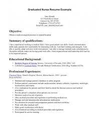 New Graduate Resume Sample by New Grad Resumes Nursing New Registered Nurse Resume Sample