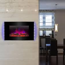 Electric Wall Fireplace Wall Mounted Electric Fireplaces Electric Fireplaces The Home