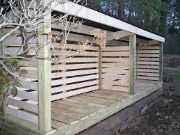 Shed Interior Ideas by Exterior Back Yard With Outdoor Pallet Fire Wood Shed As Well As