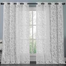 Lace Curtain Athena White Lace Curtain Panel Set Beautifully