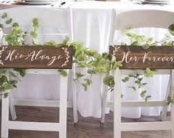 his and hers wedding chairs wedding chair sign etsy