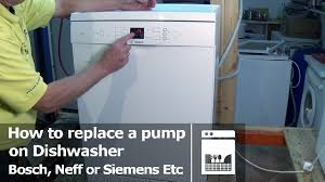 how to replace dishwasher pump bosch siemens etc