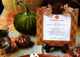 glitzy thanksgiving place setting menus a last minute craft