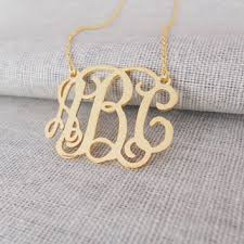 three initial monogram necklace best small gold monogram necklace products on wanelo