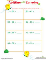 double digits practice vertical addition with carrying 33