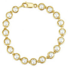 yellow gold bracelet with pearls images Bracelets edwards davies jpg