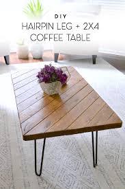 my 15 minute diy coffee table hairpin legs wood coffee tables