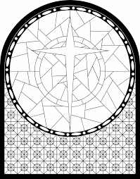 catholic stained glass window coloring pages printable images