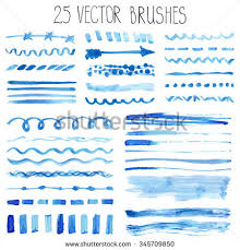 watercolor brusheshand painting textureline brushstrokeborder set