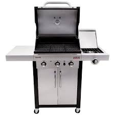 char broil signature 2b cabinet grill broil signature tru infrared 3 burner gas grill silver